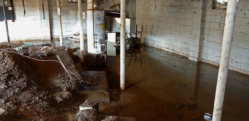 Flooded basement water proofed.